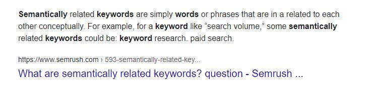Senmantic Keyword